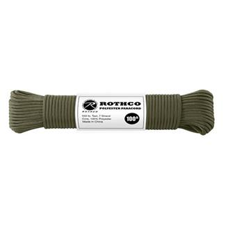 Rothco Polyester 550 LB Commercial Paracord - 100ft Olive Drab