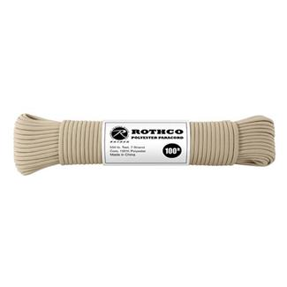 Rothco Polyester 550 LB Commercial Paracord - 100ft Tan