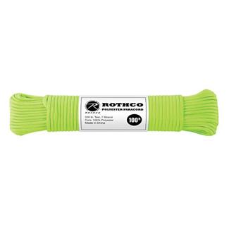 Rothco Polyester 550 LB Commercial Paracord - 100ft Safety Green