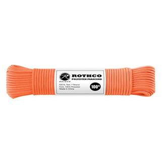 Rothco Polyester 550 LB Commercial Paracord - 100ft Safety Orange