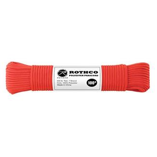 Rothco Polyester 550 LB Commercial Paracord - 100ft Red