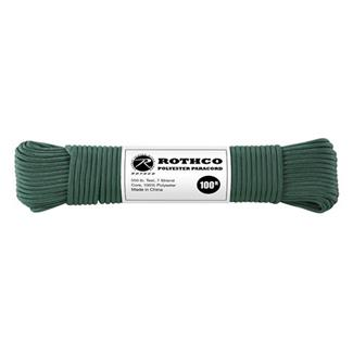 Rothco Polyester 550 LB Commercial Paracord - 100ft Hunter Green
