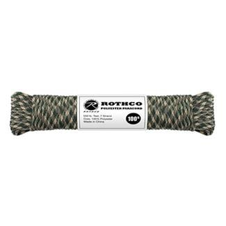 Rothco Polyester 550 LB Commercial Paracord - 100ft Camo