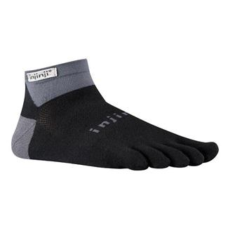 Injinji Run Lightweight Mini-Crew Socks Black / Gray