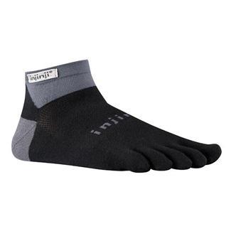 Injinji Run Lightweight Mini-Crew Socks Black / Gray