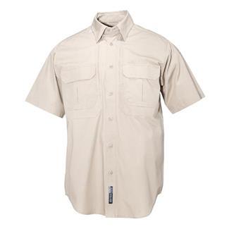 5.11 Short Sleeve Cotton Tactical Shirts Khaki