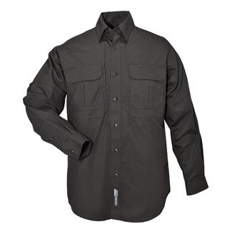 5.11 Long Sleeve Cotton Tactical Shirts Black