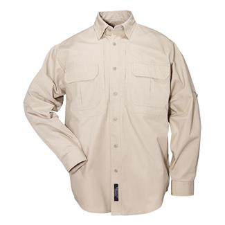 5.11 Long Sleeve Cotton Tactical Shirts Khaki