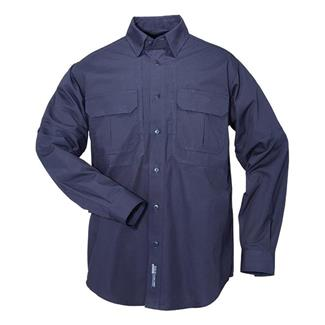 5.11 Long Sleeve Cotton Tactical Shirts Fire Navy