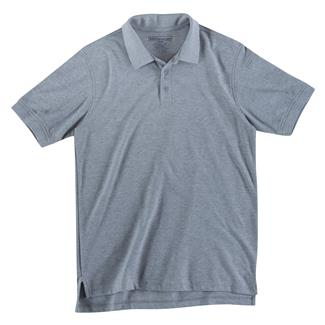 5.11 Short Sleeve Utility Polos Heather Gray