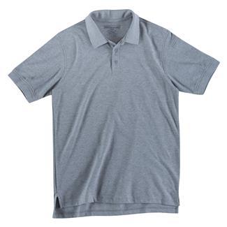 5.11 Short Sleeve Utility Polos Heather Gray