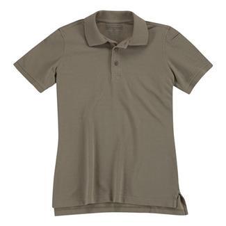 5.11 Short Sleeve Professional Polos Silver Tan