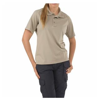 5.11 Short Sleeve Performance Polos Silver Tan