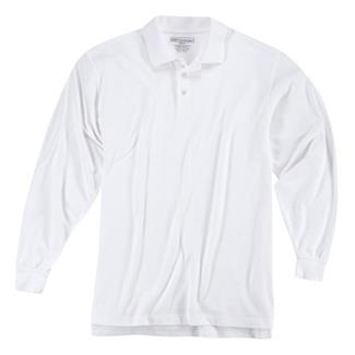 5.11 Long Sleeve Professional Polos White
