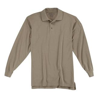 5.11 Long Sleeve Professional Polos Silver Tan
