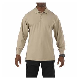 5.11 Long Sleeve Professional Polos Silver Tan