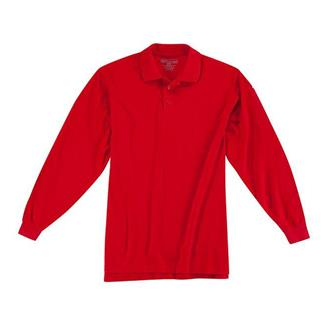 5.11 Long Sleeve Professional Polos Range Red