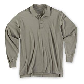 5.11 Long Sleeve Tactical Polos Silver Tan