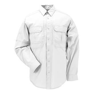5.11 Long Sleeve Taclite Pro Shirts White