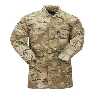 5.11 Long Sleeve Poly / Cotton Ripstop TDU Shirts MultiCam