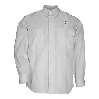 5.11 Long Sleeve Twill PDU Class A Shirts White