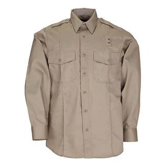 5.11 Long Sleeve Twill PDU Class A Shirts Silver Tan