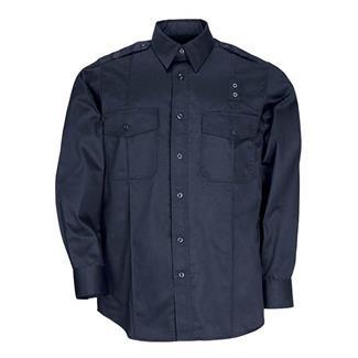 5.11 Long Sleeve Twill PDU Class A Shirts Midnight Navy
