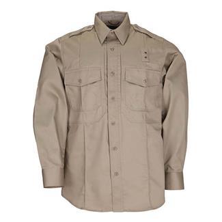 5.11 Long Sleeve Twill PDU Class B Shirts Silver Tan