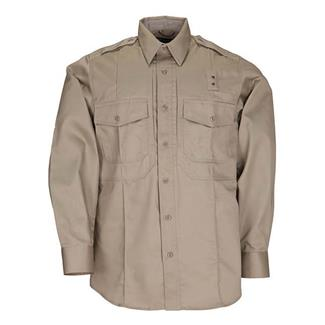 5.11 Long Sleeve Twill PDU Class B Shirts Silver Tan