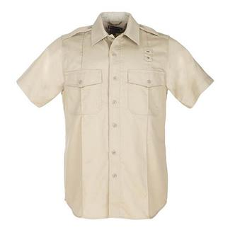 5.11 Short Sleeve Twill PDU Class A Shirts Silver Tan