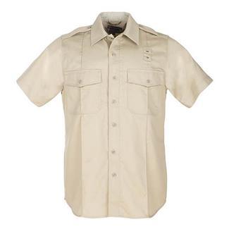 5.11 Short Sleeve Twill PDU Class A Shirts Silver Tan