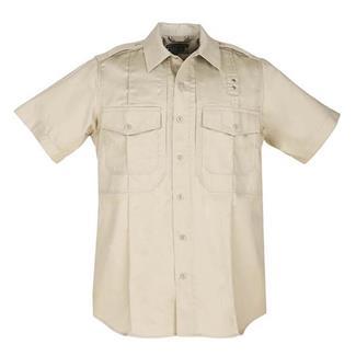 5.11 Short Sleeve Twill PDU Class B Shirts Silver Tan