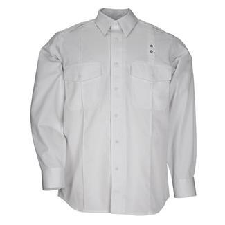 5.11 Long Sleeve Twill PDU Class A Shirts White