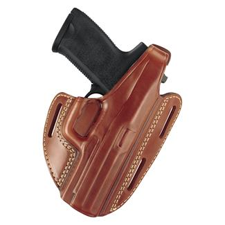 Gould & Goodrich Gold Line Three Slot Pancake Holster Chestnut Brown