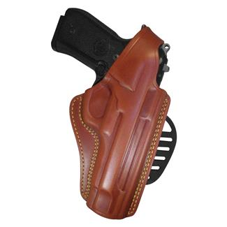 Gould & Goodrich Gold Line Paddle / Belt Loop Holster Chestnut Brown
