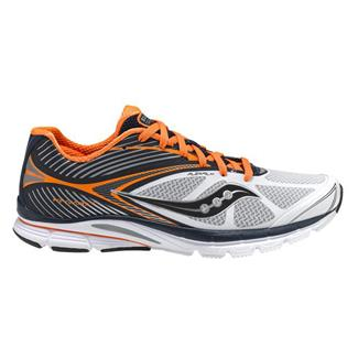 Saucony Kinvara 4 White / Navy / Orange