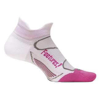 Feetures Elite Light Cushion No Show Tab Socks White / Pink