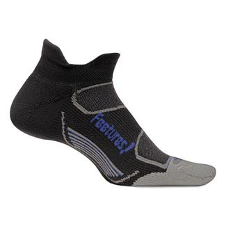 Feetures Elite Light Cushion No Show Tab Socks Black / Blue