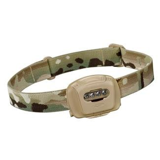 Princeton Tec Quad Tactical Headlamp Multicam Red / Blue / Green
