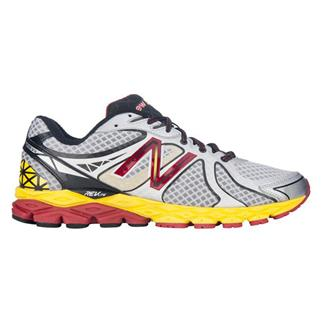 New Balance 870v3 Silver / Yellow / Red