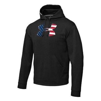 Under Armour Big Flag Logo Hoodie Black