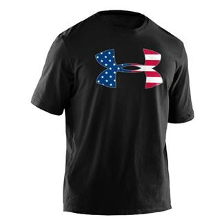 Under Armour Big Flag Logo Tee Black