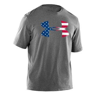Under Armour Big Flag Logo Tee True Gray Heather