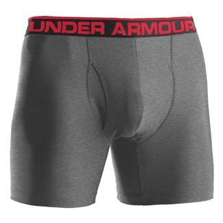 "Under Armour O-Series 6"" BoxerJock Boxer Briefs True Gray Heather"