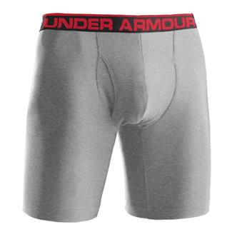 "Under Armour O-Series 9"" BoxerJock Boxer Briefs True Gray Heather"