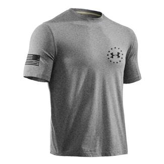 Under Armour WWP Freedom Flag Tee True Gray Heather