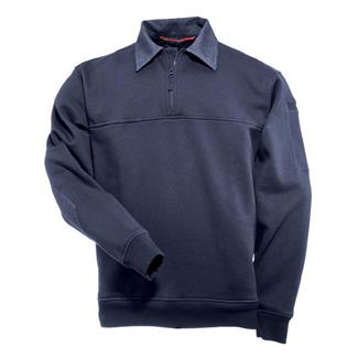 5.11 Job Shirts with Denim Details Fire Navy