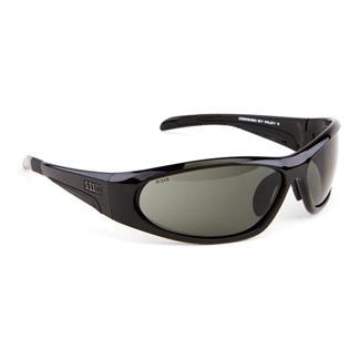 5.11 Ascend Sunglasses Black (frame) - Polarized Smoke (lens)