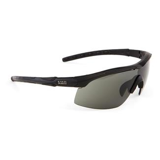 5.11 Raid Eyewear (3 Lens) Matte Black (frame) - Plain Smoke / Ballistic Orange / Clear (3 lenses)