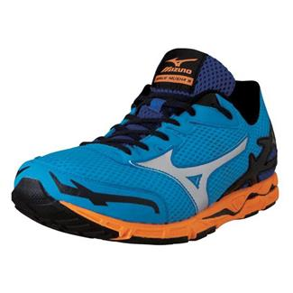 Mizuno Wave Musha 5 Surf the Web / Silver / Blazing Orange